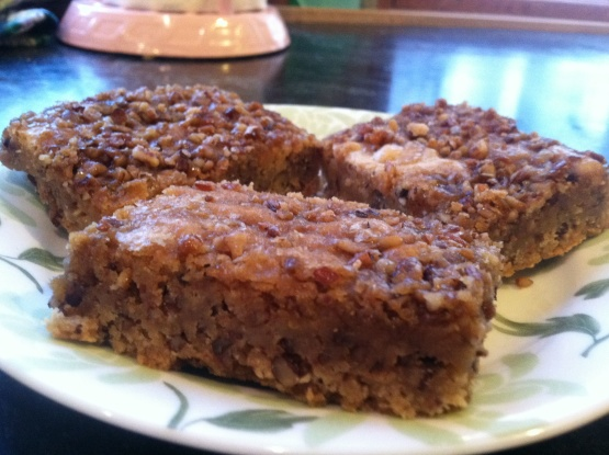 Macadamia Nut Blondies With Caramel-Maple Topping Recipe - Food.com