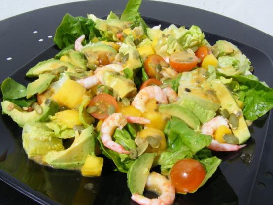 Avocado And Mango Salad With Passion Fruit Vinaigrette ...
