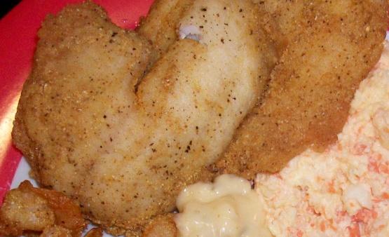 Pan fried cornmeal batter fish recipe genius kitchen for Cornmeal fish fry batter