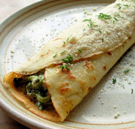 Savory Mushroom Spinach And Cheese Crepes Recipe Genius