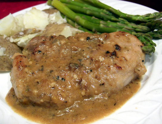 Pork Loin Cutlets With Lemon-Thyme Sauce Recipe - Genius ...