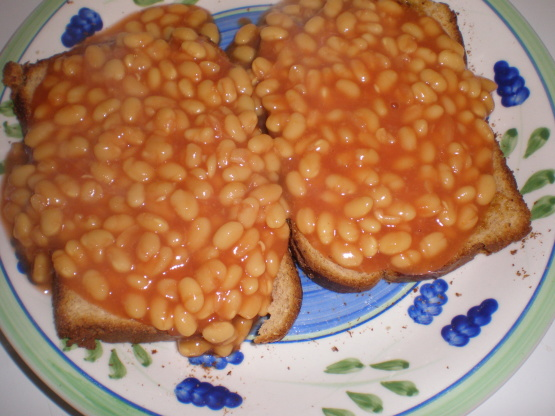 british baked beans on toast image residents beans on toast beans ...