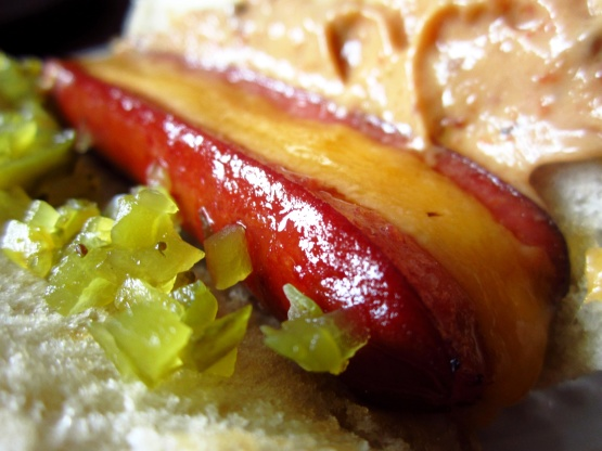 oven roasted hot dogs can work for a graduation home party held indoors or in the backyard