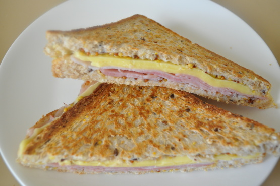 Hot Ham And Cheese Butter Dijon Skillet Sandwiches Recipe ...