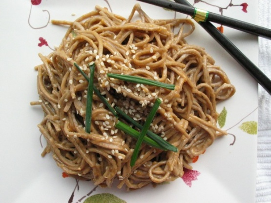 Peanut Butter Sesame Noodles RecipeChinese.Food.com
