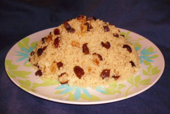 Mesfouf Qsentena - Sweet Couscous With Dates And Nuts ...