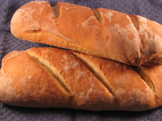 Traditional Artisan Style BaguetteRustic French Bread Recipe