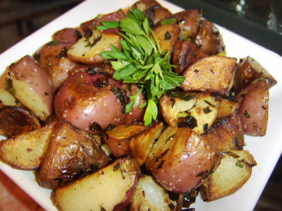 Easy Pan Fried Potatoes, Shallots With Parsley Butter Recipe - Food ...