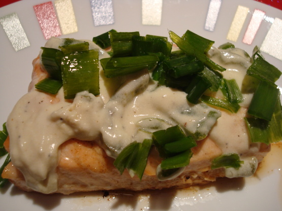 Baked Salmon With Lime, Jalapeno Chive And Sour Cream Sauce) Recipe ...