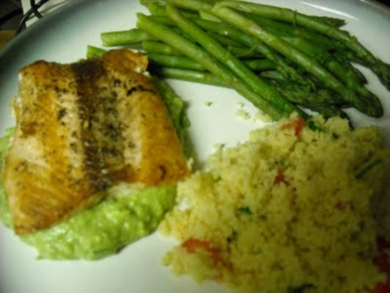 ... avocado remoulade out of my pan seared salmon with avocado remoulade