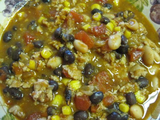 Turkey And Bean Taco Soup Recipe Genius Kitchen