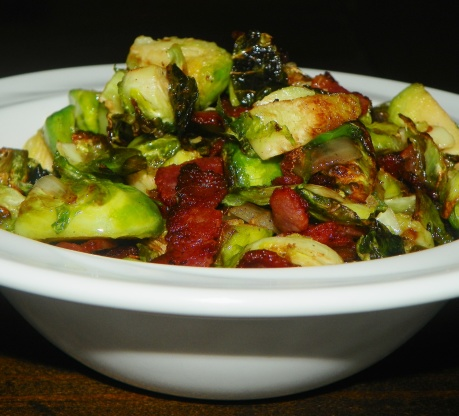 Roasted Brussels Sprouts With Bacon And Shallots Recipe - Food.com