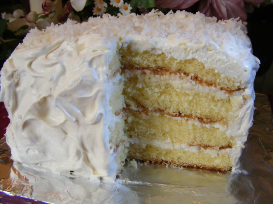 Coconut Cake Filling Sour Cream