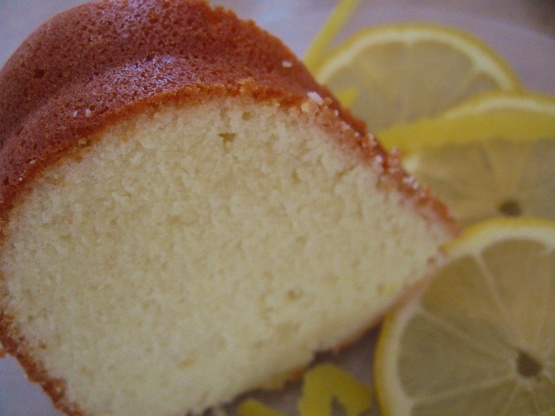 Extra Moist Lemon Sour Cream Pound Cake