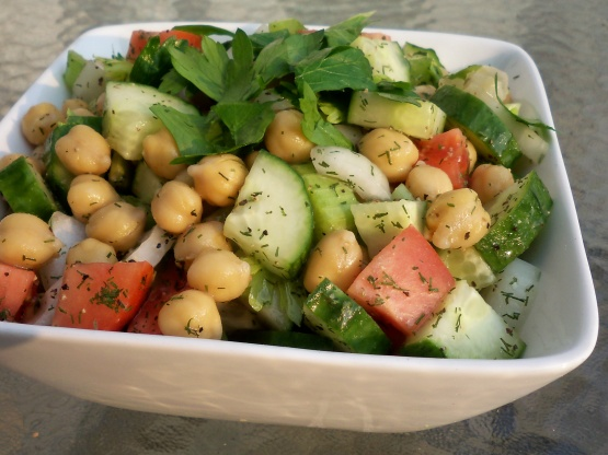 Cucumber Chickpea Salad Recipe - Food.com