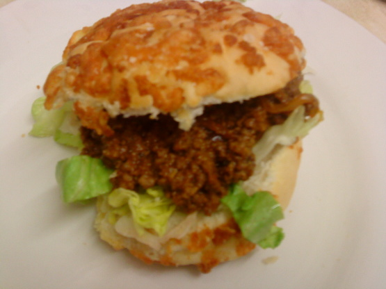 sloppy dogs ground beef sloppy joes with cheese in hot. Black Bedroom Furniture Sets. Home Design Ideas