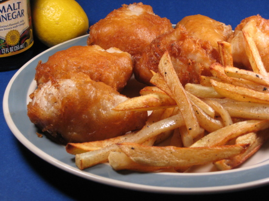 Fish and chips recipe no beer for Captain d s batter dipped fish