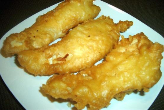 Crunchy fish batter for Battered fish recipe
