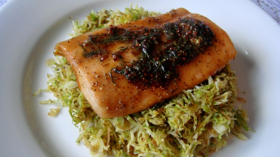 Brown Sugar Roasted Salmon With Maple-Mustard-Dill Sauce Recipe