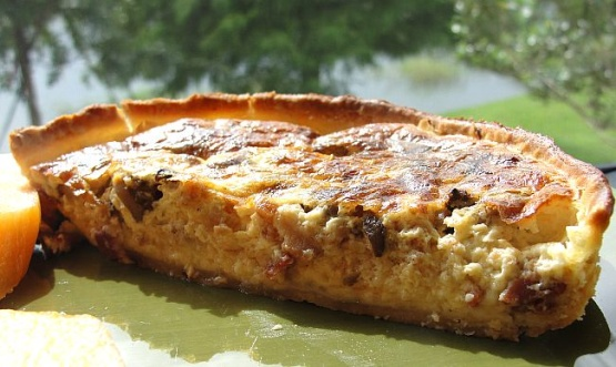 Food Recipe Moosewood Swiss Cheese And Mushroom Quiche
