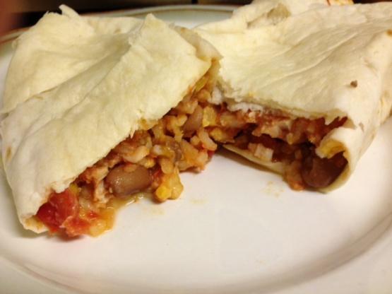 Chicken, Rice, And Bean Burritos Recipe - Food.com