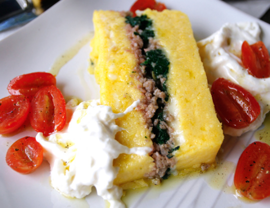 Layered Polenta Loaf With Italian Sausage And Cheese ...