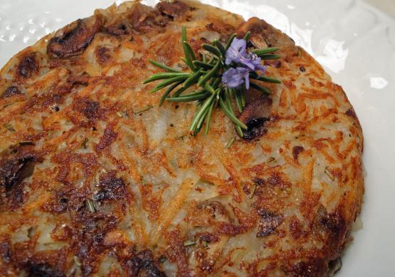 Crispy Potato, Onion, And Mushroom Rosti Recipe — Dishmaps