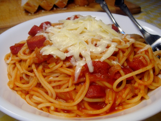 Spaghetti And Hot Dogs Sauce