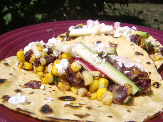 Charred Corn Tacos With Zucchini Slaw Recipe - Food.com