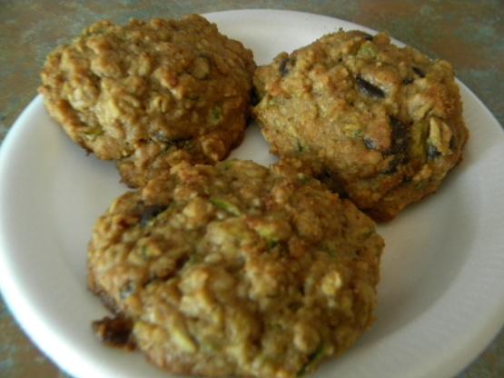 Dark chocolate chip oatmeal zucchini cookie recipe for Alton brown oat cuisine