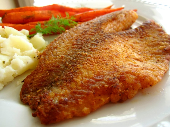 Pan fried seasoned tilapia recipe genius kitchen for Recipes for tilapia fish