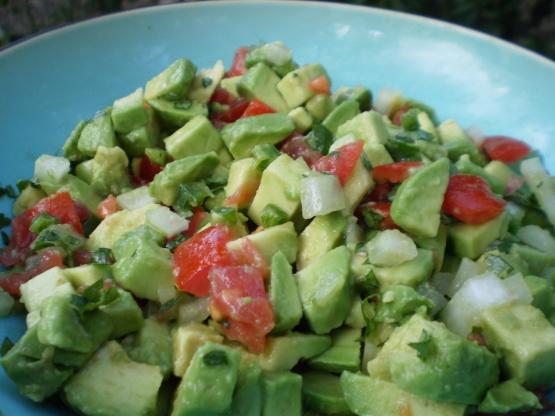 Evas Chunky Guacamole Recipe Genius Kitchen