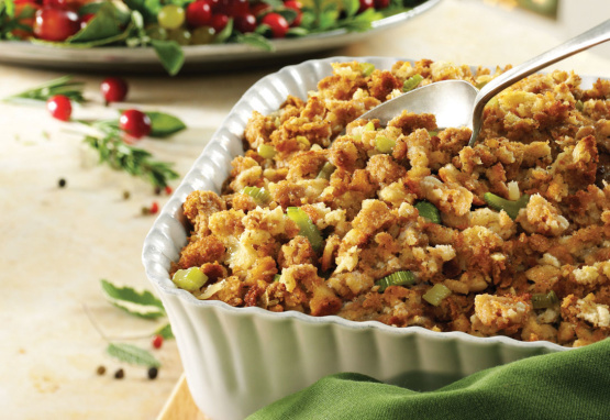 how to make moist stuffing outside the turkey