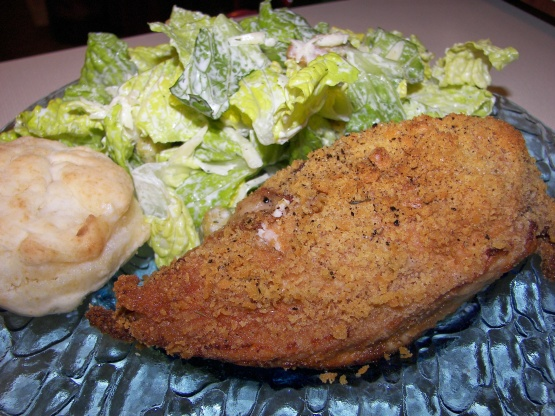 oven fried chicken recipe with cracker crumbs