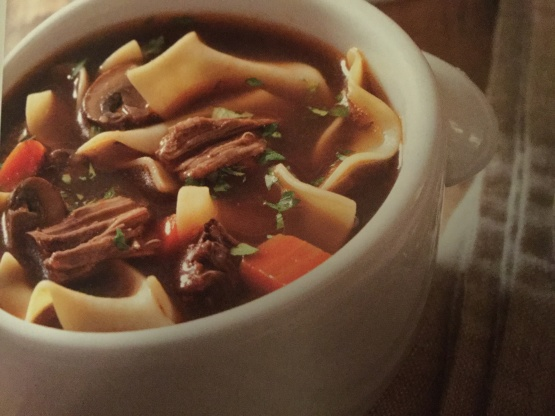 Old Fashioned Beef Noodle Soup Recipe