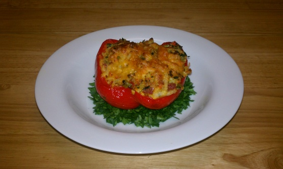Stuffed Red Peppers With Hash Browns Recipe - Genius Kitchen