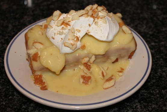 Banana pudding yellow cake recipe