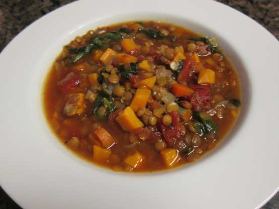 Vegetarian Lentil Soup Recipe Genius Kitchen