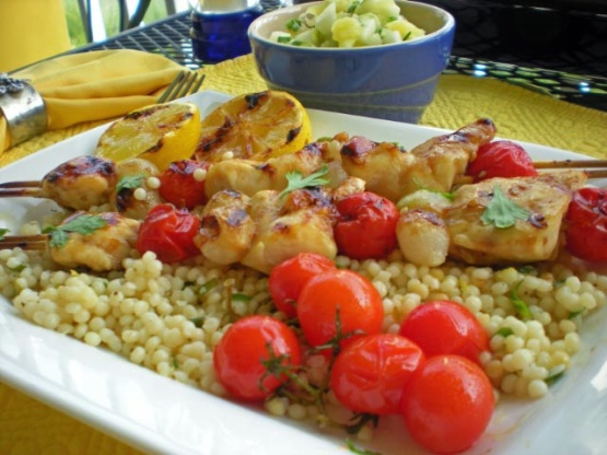 Maple Glazed Chicken Kabobs With Sweet Jalapeno Salsa ...