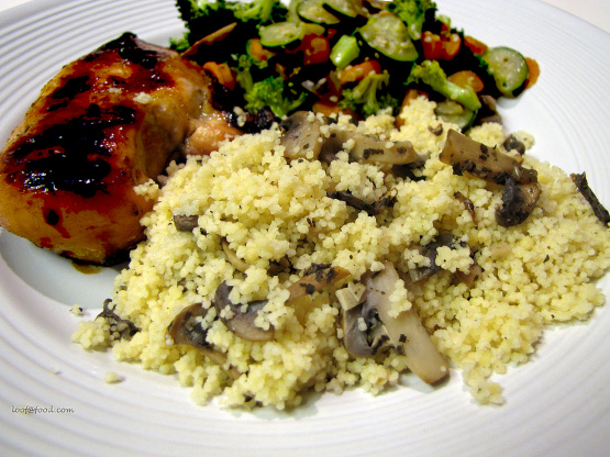 Wild Forest Mushroom Couscous Recipe - Genius Kitchen