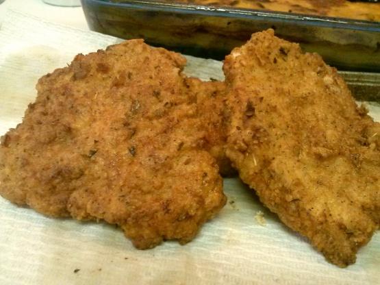 Crispy fried pork chop recipe