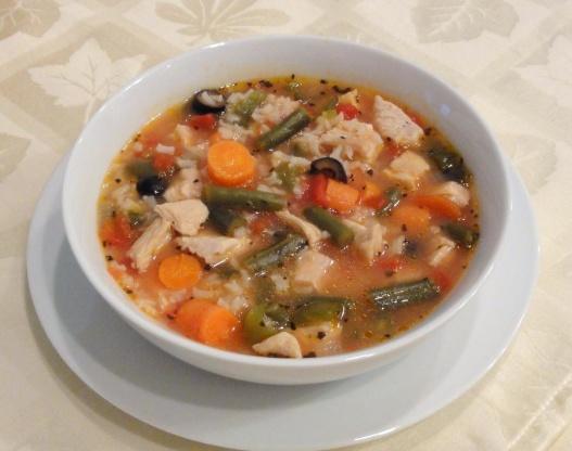 Chunky Turkey Soup, Mediterranean Style Recipe - Genius ...