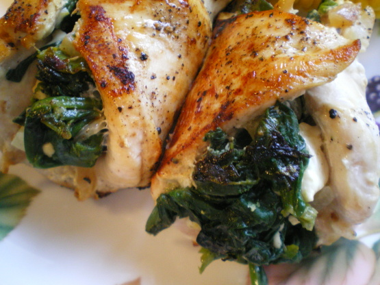 chicken wrapped in spinach recipe