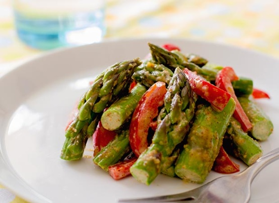 Asparagus With Almond Butter Sauce Recipe - Genius Kitchen