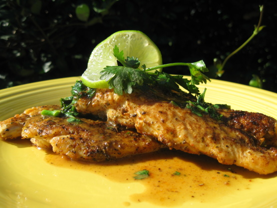 Spiced Chicken With Lime Cilantro Butter Recipe - Genius ...