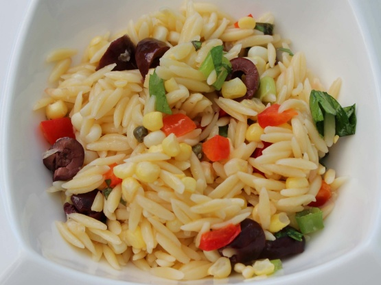 Mediterranean-Style Orzo Salad With Corn Recipe