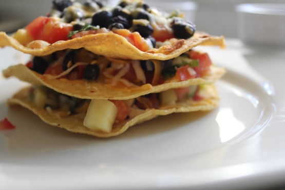 Black Beans Corn Tostada With Mango Salsa Recipe - Genius ...