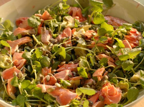 Salmon, Avocado, Watercress And Pumpkin Seed Salad Recipe ...