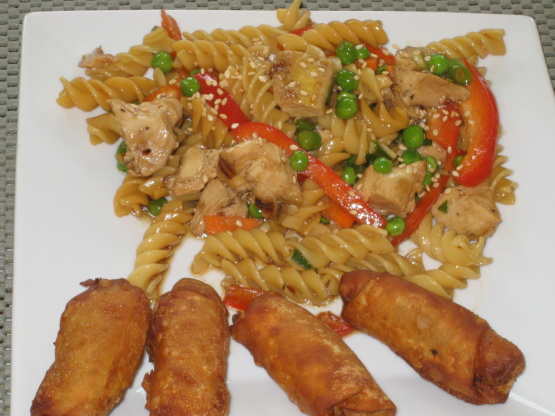 Asian chicken pasta recipe