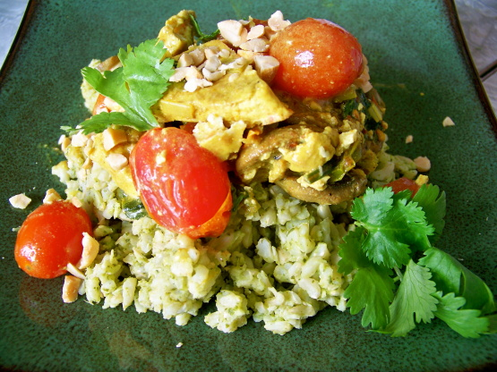 Coconut Curried Tofu With Green Jasmine Rice Recipe ...